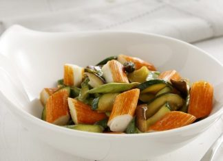 Wok de verduras y Krissia